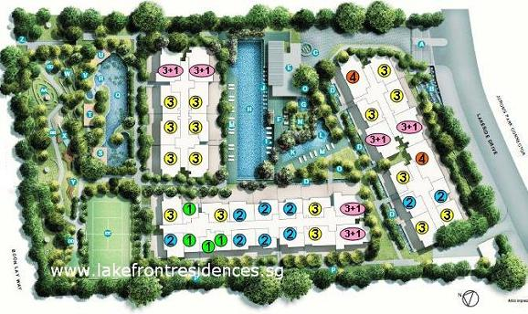 Lakefront Condo Site Layout Plan